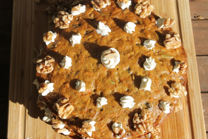 Three-Layer Carrot Cake Recipe (with 'healthier' cream cheeseicing
