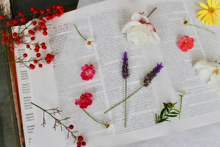 Pressing Flowers.